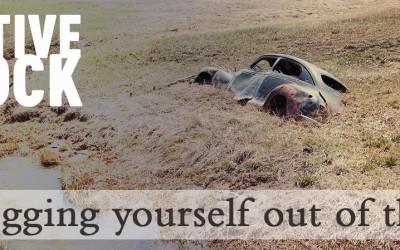 Digging out of the mud -Chris Sagert .com